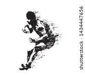rugby player running with ball  ... | Shutterstock .eps vector #1434447656