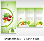 food brochure design. health... | Shutterstock .eps vector #143445406