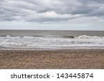 Shingle Beach On A Stormy Day...