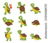 cartoon turtle. cute tortoise... | Shutterstock . vector #1434468470