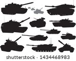 tank vector silhouettes... | Shutterstock .eps vector #1434468983