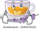 silent levender tea is poured...   Shutterstock .eps vector #1434476123