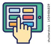 touch screen isolated vector...