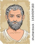 thales of miletus portrait in... | Shutterstock .eps vector #1434509183