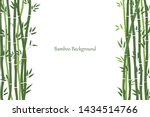 decorative frame with bamboo...   Shutterstock .eps vector #1434514766
