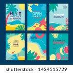 summer vacation  picnic  beach... | Shutterstock .eps vector #1434515729