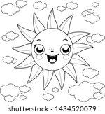 cartoon illustration of a sun... | Shutterstock .eps vector #1434520079