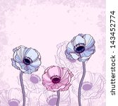 Anemone Floral Background...