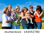 family and multi generation  ... | Shutterstock . vector #143452780