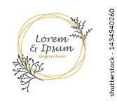 wedding logos  hand drawn... | Shutterstock .eps vector #1434540260