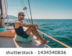 beautiful happy young man on... | Shutterstock . vector #1434540836
