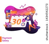 payment salary illustration...