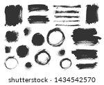 vector grunge elements. set of... | Shutterstock .eps vector #1434542570
