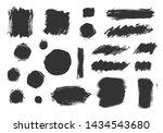 vector grunge elements. set of... | Shutterstock .eps vector #1434543680