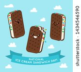 national ice cream sandwich day ... | Shutterstock .eps vector #1434546590