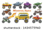 monster truck vector cartoon... | Shutterstock .eps vector #1434575960