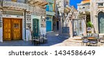 Most beautiful villages of Greece - unique traditional  Pyrgi in Chios island with ornamental houses, Eastern Sporades