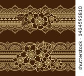 set of seamless borders pattern ... | Shutterstock .eps vector #1434593810