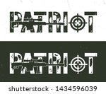vintage military and army... | Shutterstock .eps vector #1434596039