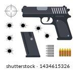 vector illustration of gun with ...   Shutterstock .eps vector #1434615326