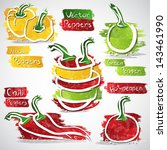 vector illustration of colorful ... | Shutterstock .eps vector #143461990