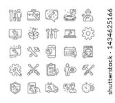 repair car service line icons.... | Shutterstock .eps vector #1434625166