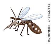 Cartoon Mosquito Aedes Aegypti...