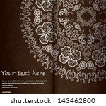 ornamental round lace pattern ... | Shutterstock .eps vector #143462800