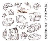 Sketch Bread  Hand Drawn Baker...