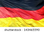 Silky flag of germany flying in ...