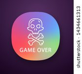 game over app icon. virtual...