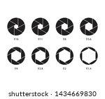 camera shutter aperture vector... | Shutterstock .eps vector #1434669830