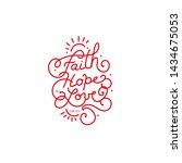 typographic design with words... | Shutterstock .eps vector #1434675053