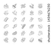 menu dishes linear icons set.... | Shutterstock .eps vector #1434676250