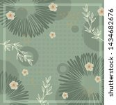 hijab silk scarf pattern with... | Shutterstock .eps vector #1434682676