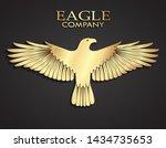 3d golden metal elegant eagle...   Shutterstock .eps vector #1434735653