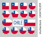 chile flag collection figure... | Shutterstock . vector #1434741359