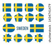 sweden flag collection figure... | Shutterstock . vector #1434741479