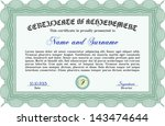 green certificate  diploma or... | Shutterstock .eps vector #143474644