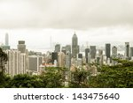 hong kong harbour at day | Shutterstock . vector #143475640