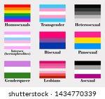 gender flags on white... | Shutterstock .eps vector #1434770339