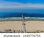 Aerial View Of Huntington Pier...
