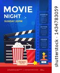movie night poster design... | Shutterstock .eps vector #1434783059