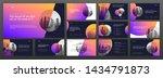 business powerpoint...   Shutterstock .eps vector #1434791873