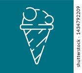 ice cream line icon. single...