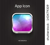 vector square app icon with...