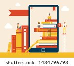 electronic library books set... | Shutterstock . vector #1434796793
