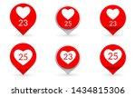 like heart icon set. social...