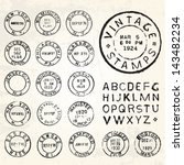 vector vintage stamp set. all... | Shutterstock .eps vector #143482234