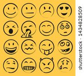 set of hand drawn faces   Shutterstock .eps vector #1434828509